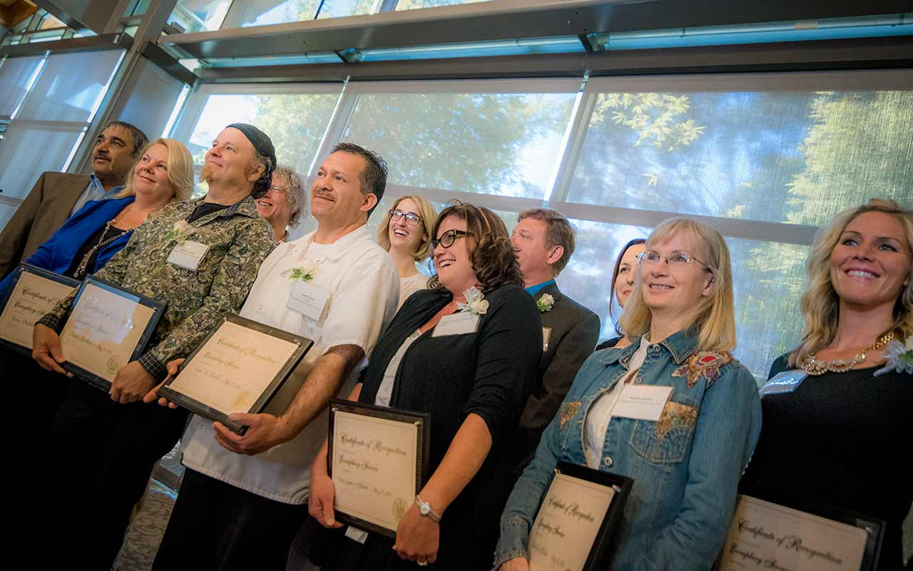 Staff Members Honored for Care and Commitment at Employee of the Year Awards