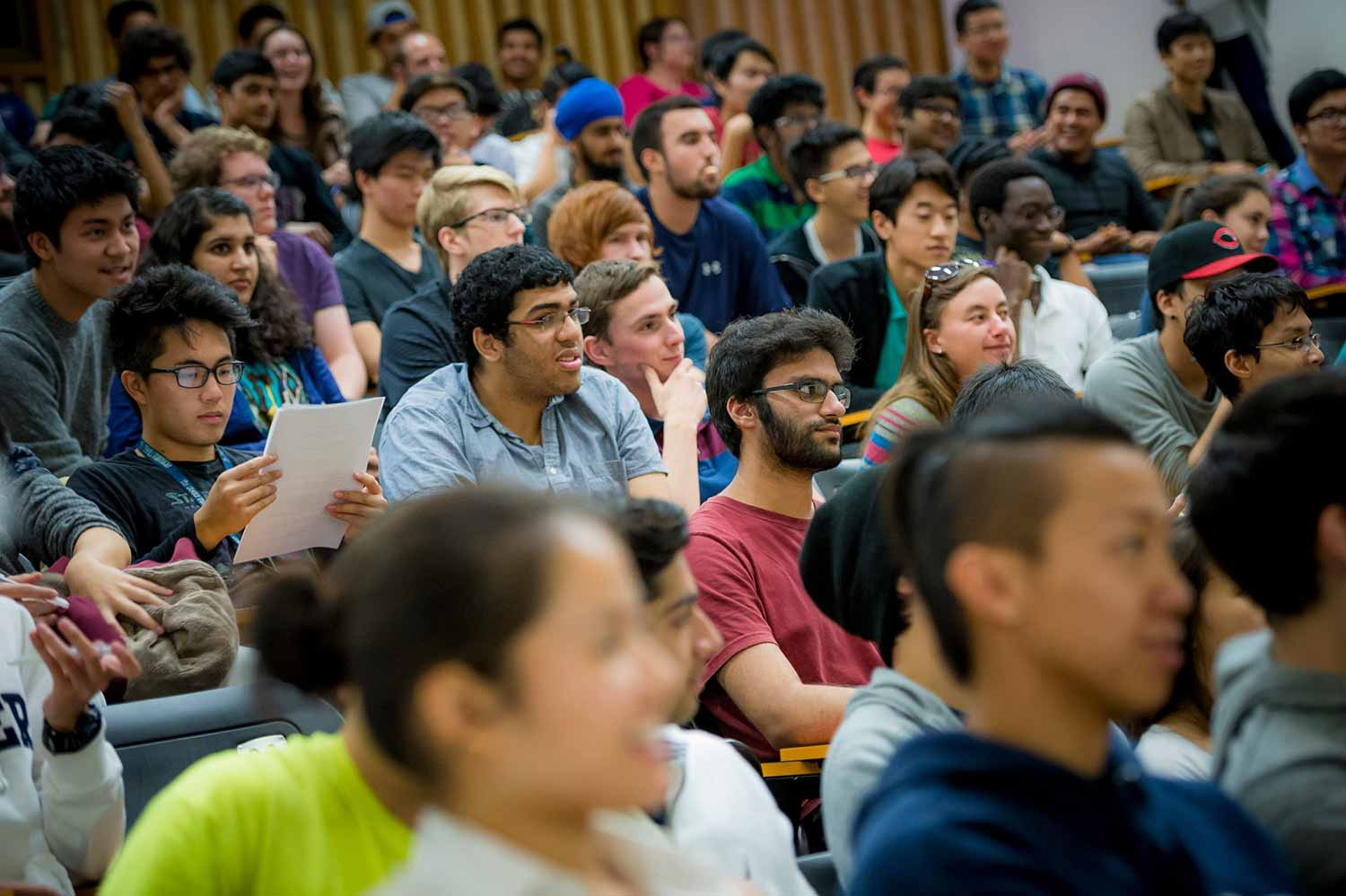Image: UC San Diego students in lecture