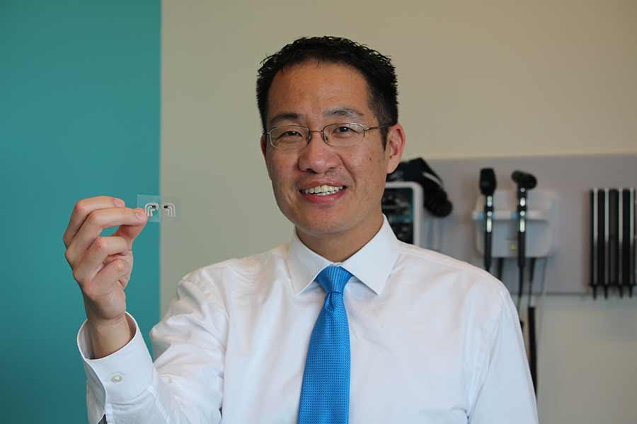 Dr. Edward Chao leads phase I clinical trial of temporary tattoo glucose monitor