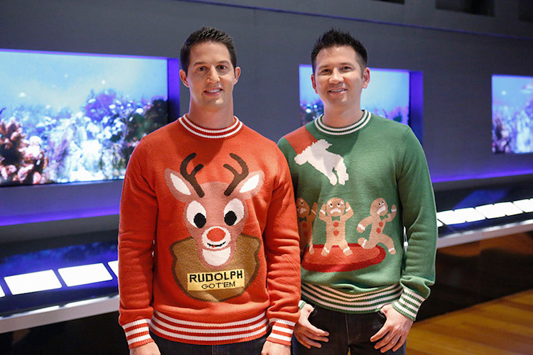 Image: Nicklaus Morton and Evan Mendelsohn (pictured right) appear on ABC's Shark Tank