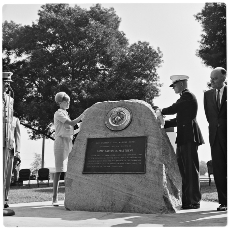 Camp Matthews Land Transfer ceremony in 1964