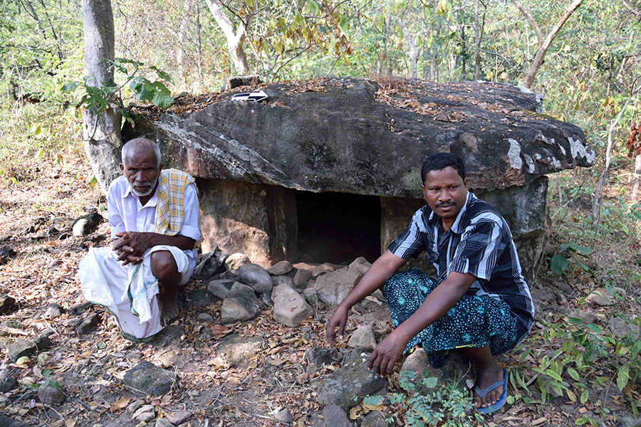 Local tribesmen from Tadvai forest