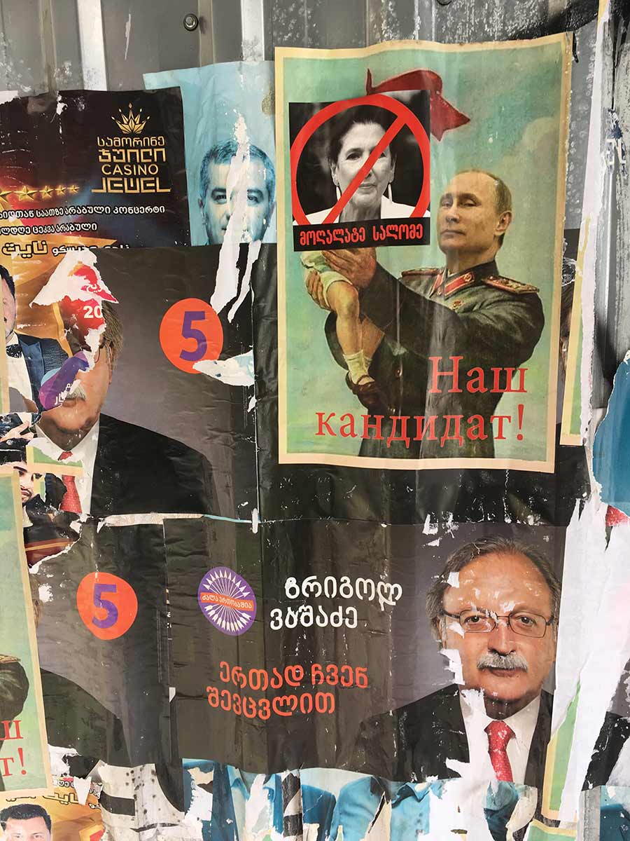 Election propaganda posters from Russia