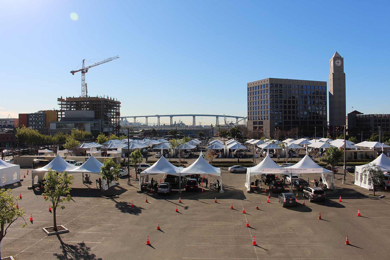 Petco Park vaccination superstation