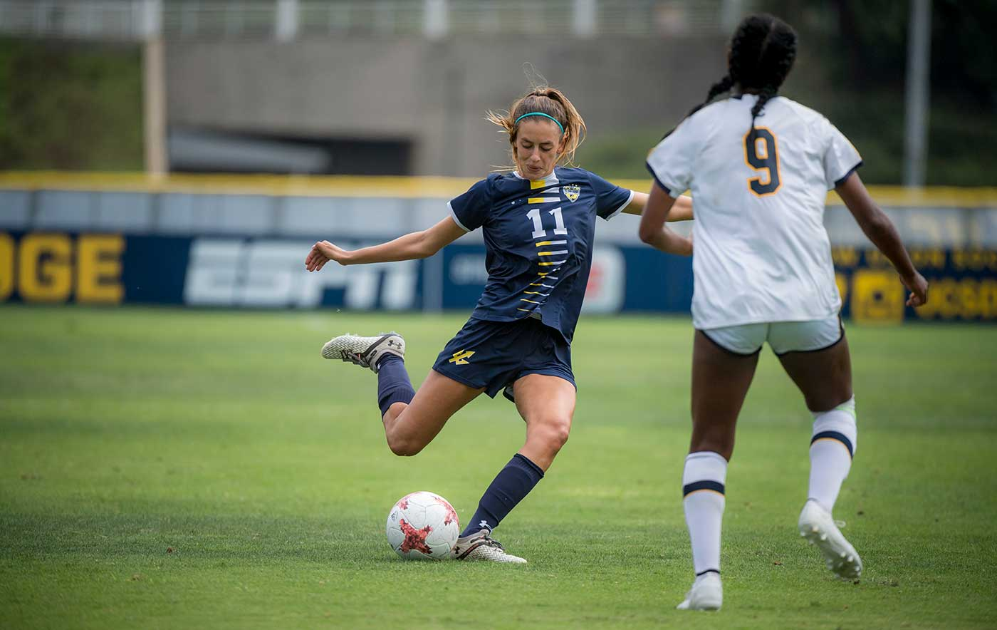 Natalie Widmer at the UC San Diego Women's Soccer versus Cal game.