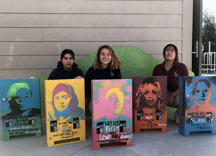 Bao, Stefani and Katie, Grade 10, San Diego, won the spring 2019 youth vote for art installation.