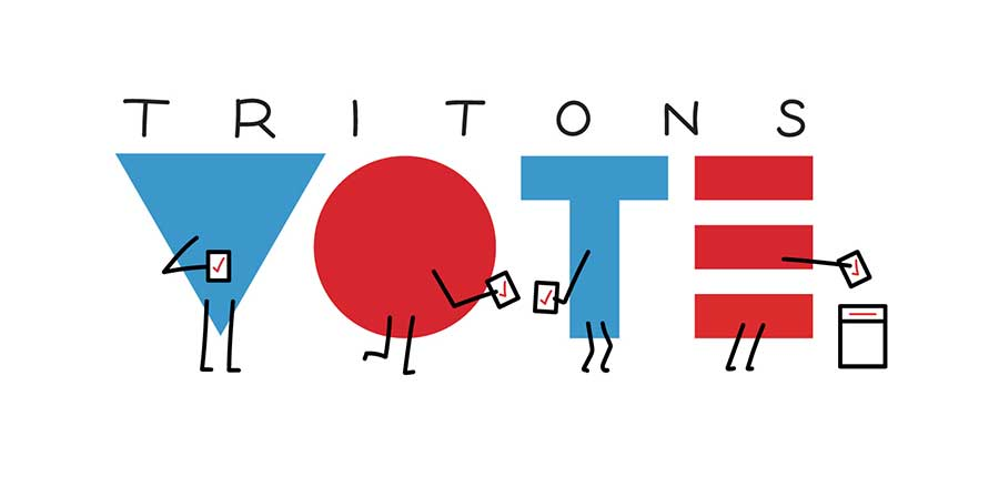 Tritons Vote graphic.