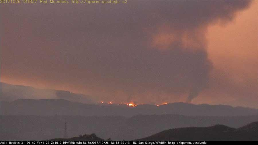 New High-Definition Cameras in San Diego back country captured fire in Campo