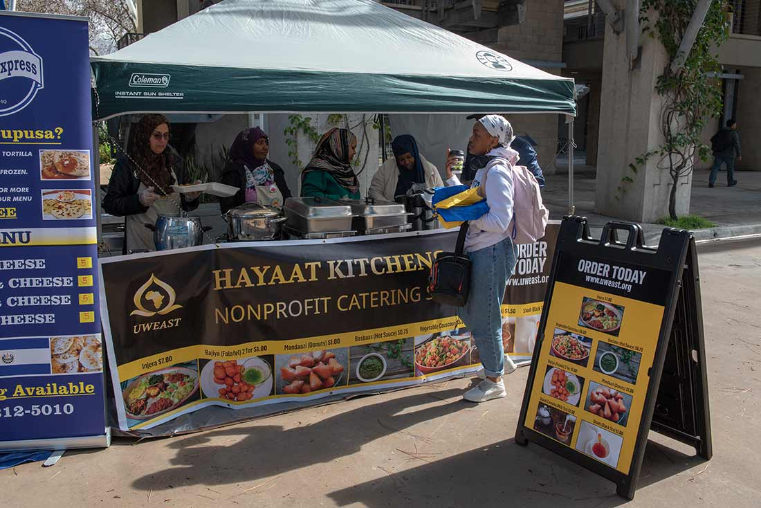 Hayaat Kitchen booth at UC San Diego
