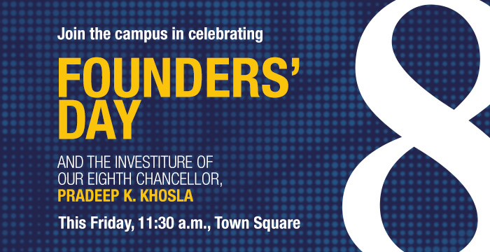 Join the campus for Founders' Day, this Friday at 11:30 a.m. in Town Square