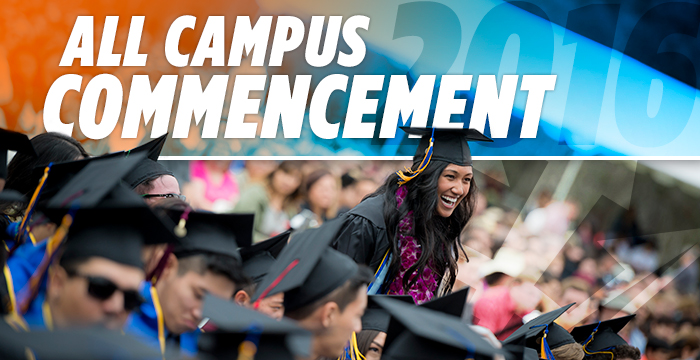 New All Campus Commencement June 11
