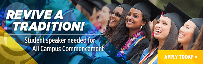 Call for student all-campus commencement speakers