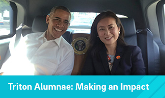 Elizabeth Phu and Obama