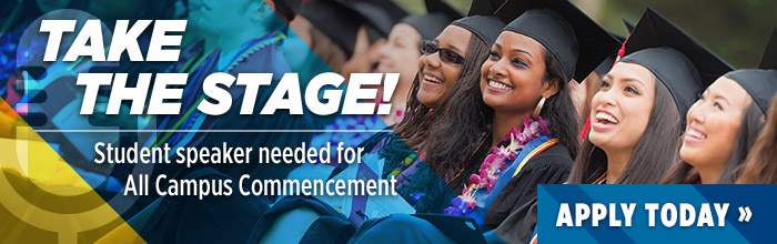 Student speaker needed for All Campus Commencement