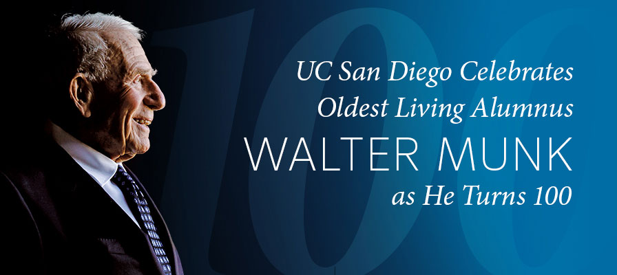 UC San Diego Celebrates Oldest Living Alumnus Walter Munk as He Turns 100