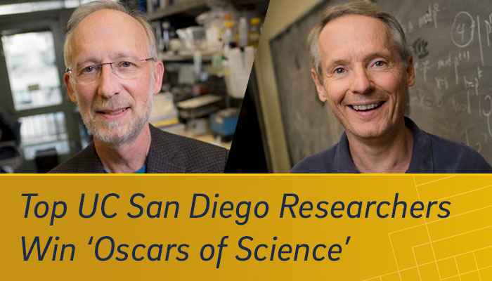 Top UC San Diego Researchers Win 'Oscars of Science'