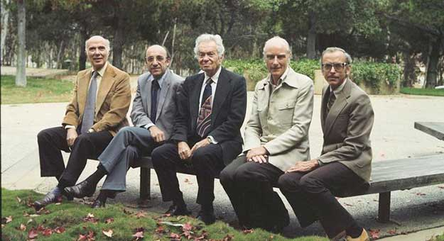 Nobel Prize laureates at UCSD circa 1977