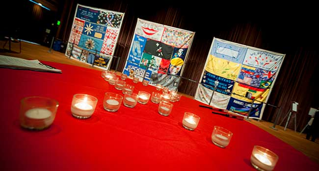 World AIDS Day display