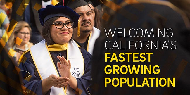 WELCOMING CALIFORNIA'S FASTEST GROWING POPULATION