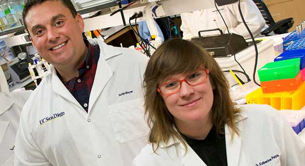 biologists Justin Meyer and Katherine Petrie