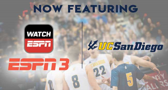 ESPN3 Now Featuring UC San Diego