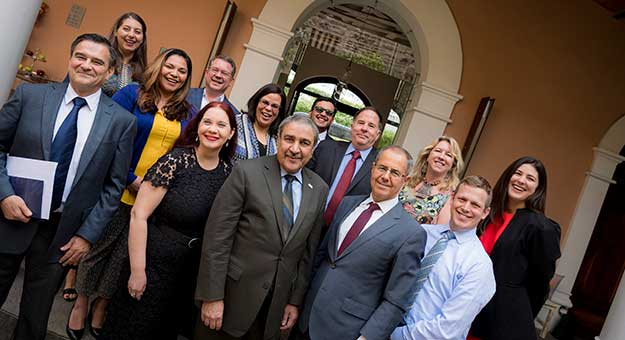Chancellor Pradeep K. Khosla with UC San Diego delegation in Mexico City