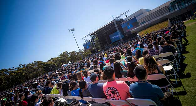 UC San Diego convocation audience