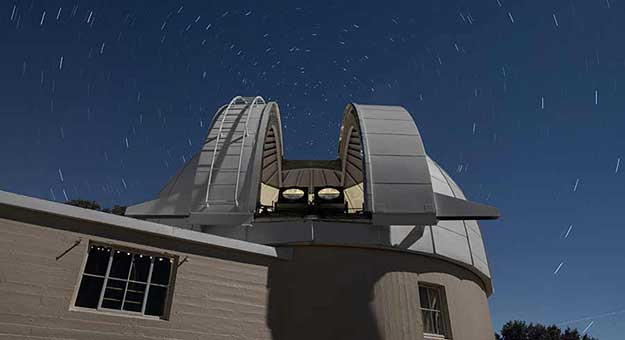 Two PANOSETI telescopes installed in the Astrograph Dome