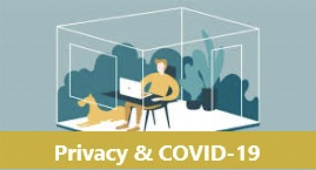 privacy during COVID19 illustration