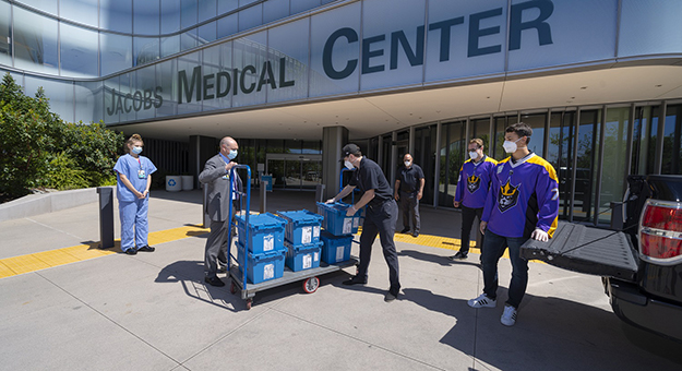 Donations outside of Jacobs Medical Center