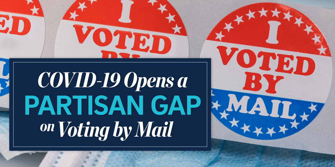 COVID opens a partisan gap on voting by mail.