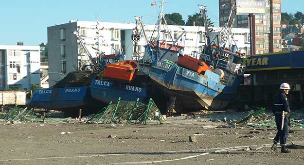 tsunami aftermath.