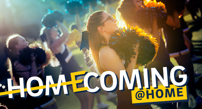 Homecoming at Home graphic.