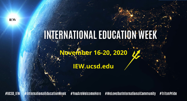 International Education Week. November 16 to 20, 2020.