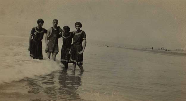 Group of African Americans at the beach.