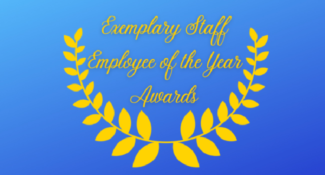 Exemplary Staff Employee of the Year Awards.