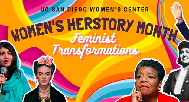 Women's Herstory Month graphic.