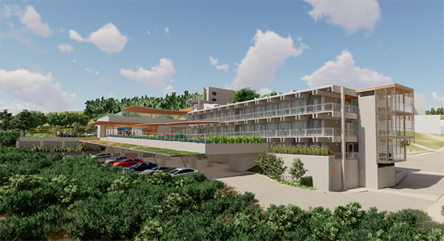 rendering of the Ted and Jean Scripps Marine Conservation and Technology Facility.